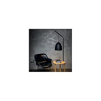 Ideal Lux Modern Black Black Tall Lamp Integrated With Small Pine Table, Piano