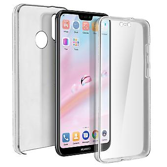 Silicone case + back cover in polycarbonate for Huawei P20 Lite - Ultra clear