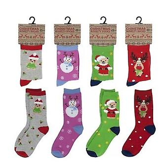 Kids Novelty Festive Xmas Christmas Gift Socks Size 9/12