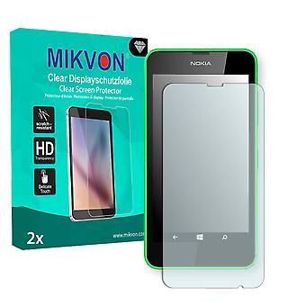 Nokia Lumia 635 Screen Protector - Mikvon Clear (Retail Package with accessories) (intentionally smaller than the display due to its curved surface)