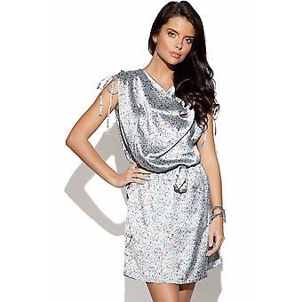 ICHI Draped Satin Finish Dress
