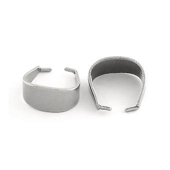 4 x لهجة الفضة 304 الفولاذ المقاوم للصدأ البيضاوي الربيع قرصه كفالات 16.5x17.5mm Y02655
