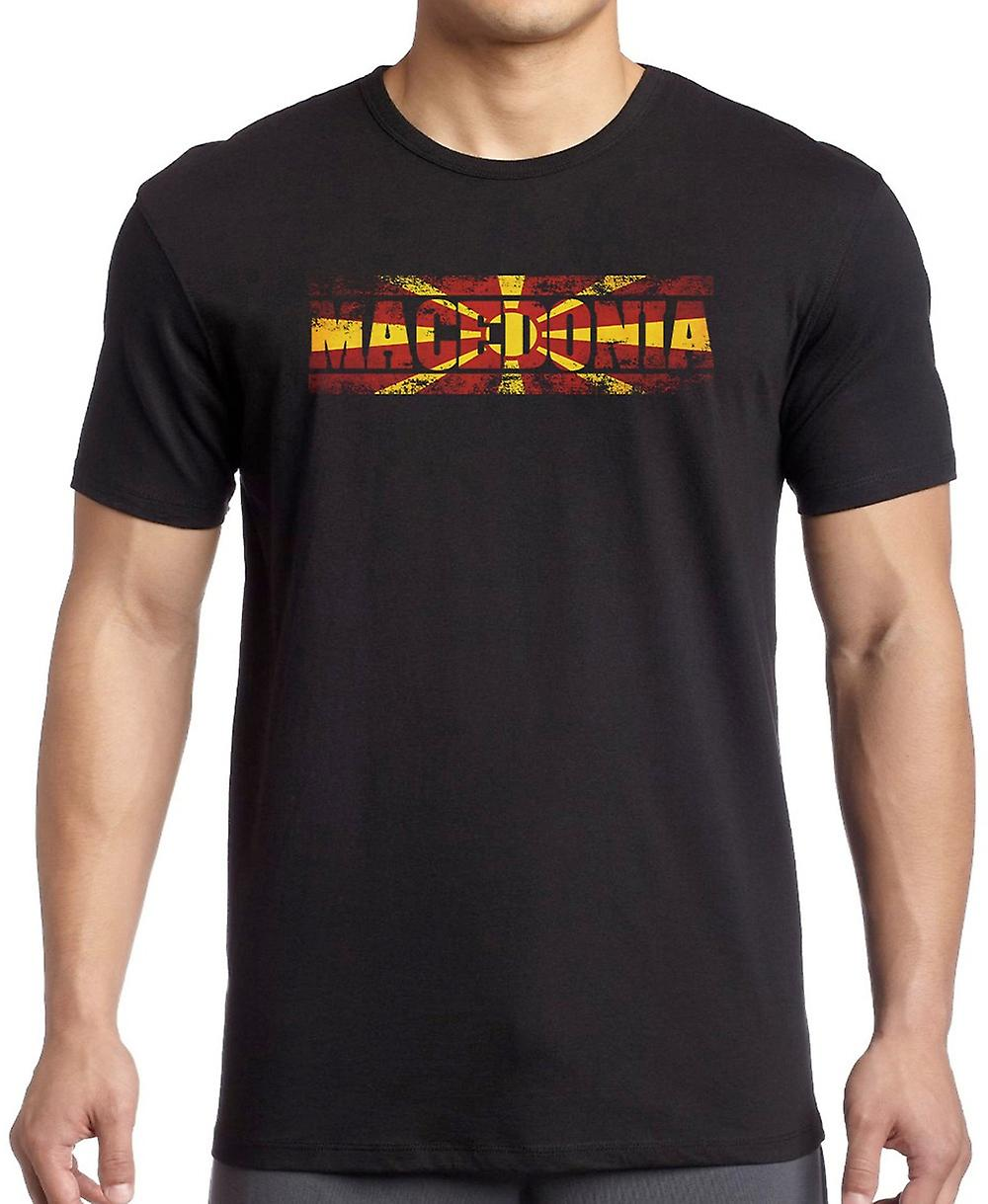 Macedonia Flag - Words Kids T Shirt