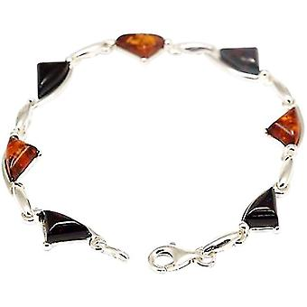 The Olivia Collection Sterling Silver Fancy Orange and Green Amber Bracelet