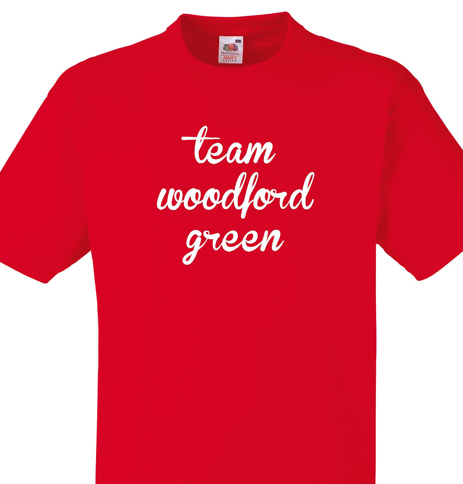 Team Woodford green Red T shirt