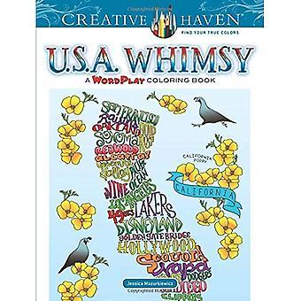 Kreativa oas U.S.A. fantasier: Ett Wordplay målarbok