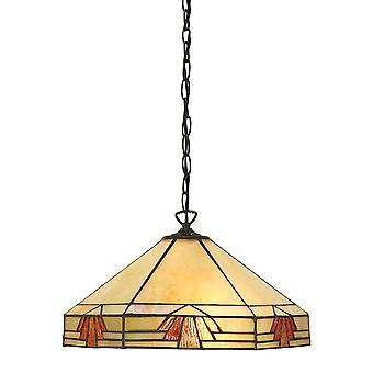 Nevada medio estilo Tiffany una luz techo colgante - interiores 64285 1900