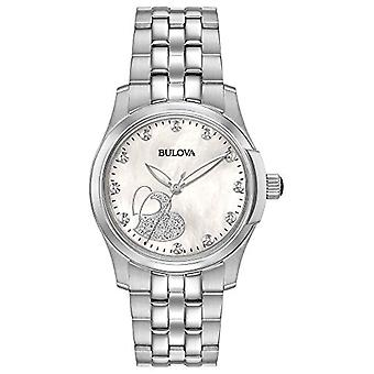 Bulova Ladies Quartz analogue watch with stainless steel band 96P182