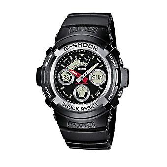 Casio analog-digital Watch quartz men with black resin strap AW-590-1AER
