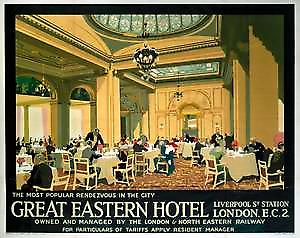 Great Eastern Hotel (old rail ad.) fridge magnet