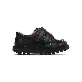 Kickers Kick Lo Leather Infant Kids School Shoe Boot Black