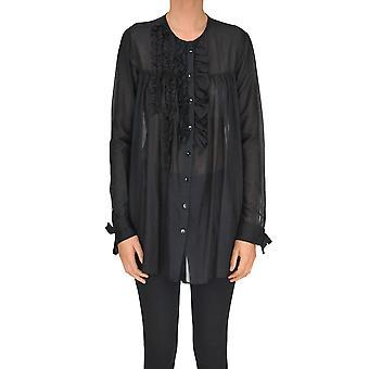 Alysi Schwarz-Shirt aus Baumwolle