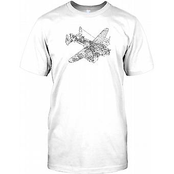 Lancaster bombefly Shematic Design - WW2 legende Herre T Shirt