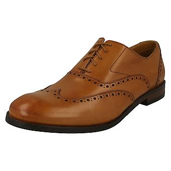 Mens Clarks Brogue Detailed Lace Up Shoes Edward Walk