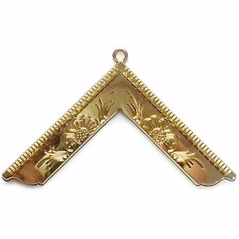Masonic Craft Lodge Officer Wor Master Collar Jewel Gold