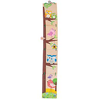 Bigjigs Toys Wooden Owl Height Chart Grow Growth Children Kid Bedroom Furniture