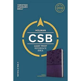 CSB Giant Print Reference Bible - Purple Leathertouch by Holman Bible