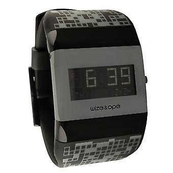 Wize and Ope Pixel Kids Back and Grey Digital Watch WO-PK-3