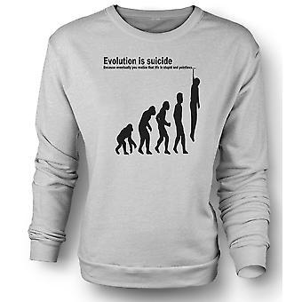 Womens Sweatshirt Evolution Is Suicide - Funny