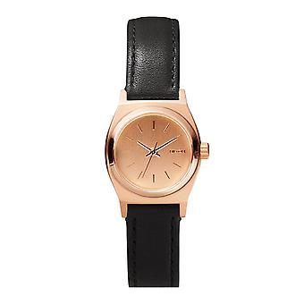 Nixon Small Time Teller in pelle tutte le Rose oro / nero (A5091932)