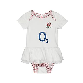 England RFU Baby Girls Tutu Bodysuit | White | 2019/20 Season