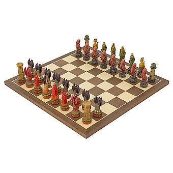The Water Vs Fire hand painted themed Chess set by Italfama