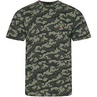 Sherwood Foresters - Camiseta con estampado de camuflaje con licencia del ejército británico