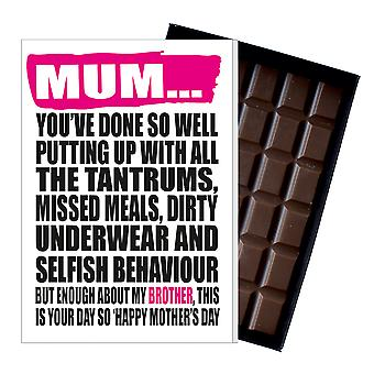 Funny Mother's Day Gift Boxed Chocolate Present Rude Greeting Card For Mom Mum Mumy MIYF128