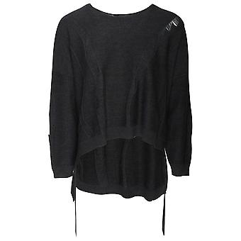 Crea Concept Loose Fit Long Sleeve Fine Knit Jumper