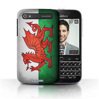 STUFF4 Case/Cover for Blackberry Classic/Q20/Wales/Welsh/Flags