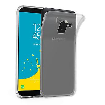 Cadorabo Hülle für Samsung Galaxy J6 2018 Case Cover - Handyhülle aus flexiblem TPU Silikon – Silikonhülle Schutzhülle Ultra Slim Soft Back Cover Case Bumper