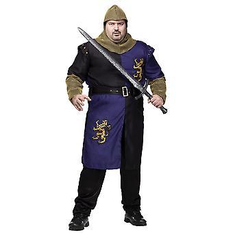 Renässans riddare medeltida Crusader Lancelot Warrior vuxen mens kostym plus