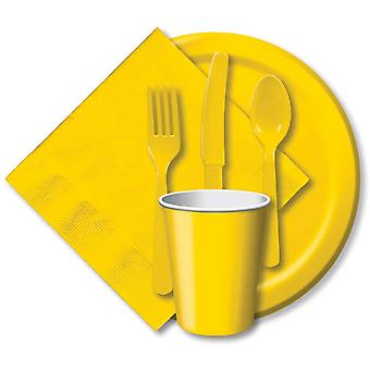 Heavy Duty Cutlery Assortment 24 Pkg School Bus Yellow Cut 1022