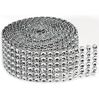 Bling On A Roll 4Mm X 2Yds 6 Row, Silver Rh1023