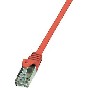 RJ49 Networks Cable CAT 5e SF/UTP 2 m Red incl. detent LogiLink