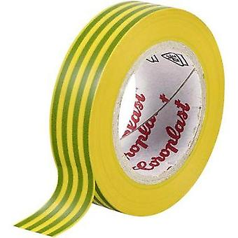 Electrical tape Coroplast Green-yellow (L x W) 25 m x 19 mm Acrylic Content: 1 Rolls
