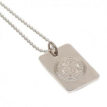 Leicester City Silver Plated Dog Tag & Chain