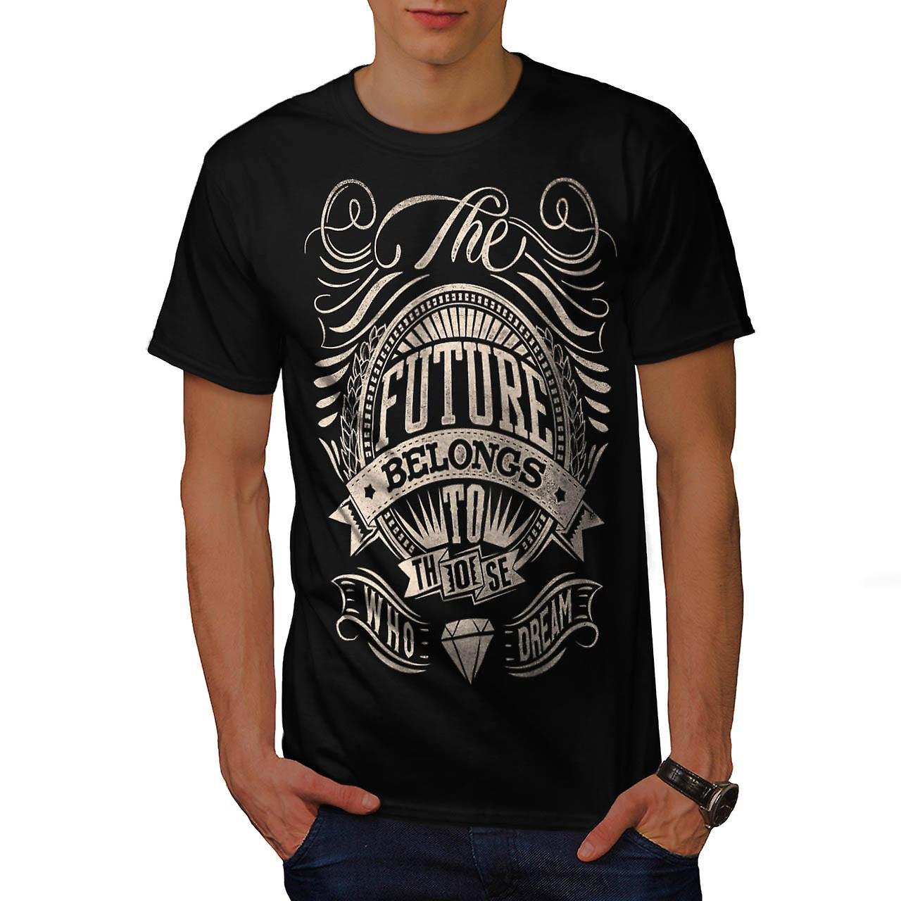 Future For Dream USA About Life Men Black T-shirt | Wellcoda