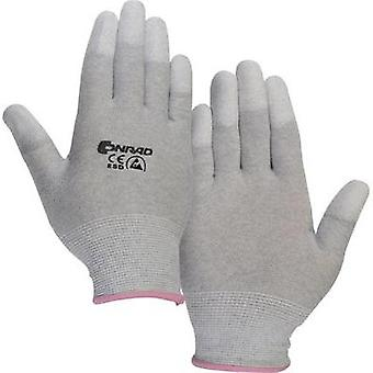 ESD glove finger-tip coating Size: XS Conrad Components Polyamide