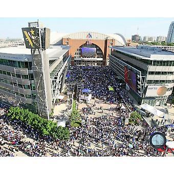 American Airlines Center Dallas Mavericks 2011 NBA Champions Victory Parade Photo Print