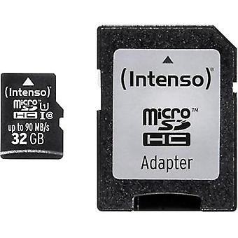 microSDHC card 32 GB Intenso Professional Class 10, UHS-I incl. SD adapter
