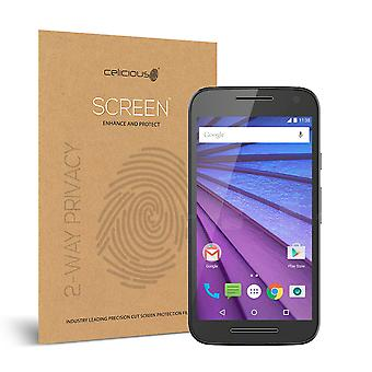 Celicious Privacy Motorola Moto G (3rd Gen) 2-Way Visual Black Out Screen Protector