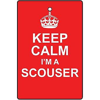 Keep Calm I'm A Scouser Car Air Freshener