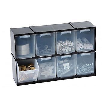 Set of 8 Tilt Drawers Cabinet For Garage Garden Shed Home