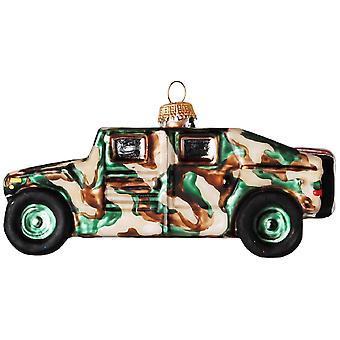 Camo hær Humvee juleferien glas Ornament
