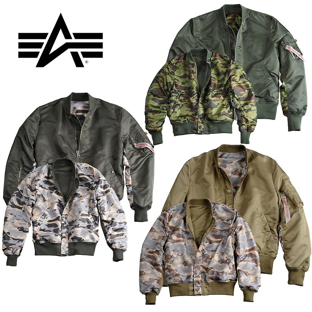 Alpha industries Ma-1 reversible jacket reversible Camo jacket