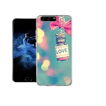 Capa Love and bow para Huawei P10 Plus