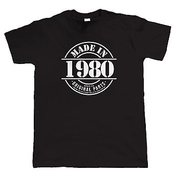 Made in 1980 Mens grappig T Shirt