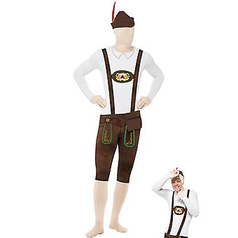 Leather pants second skin costume Oktoberfest Oktoberfest Stretchanzug