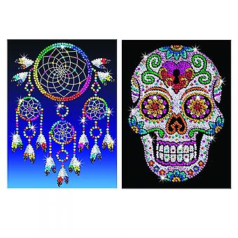 KSG Sugar Skull & Dream Catcher paillettes Art Bundle